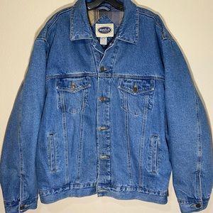 Vintage Jean Jacket Insulated Coat